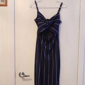 Dynamite Dresses - Dynamite blue pinstripe maxi dress with knot front